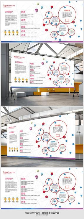 销售公司企业文化墙展板