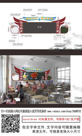 校训黑板边框文化粘贴栏公共栏