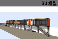 员工宿舍集装箱建筑模型