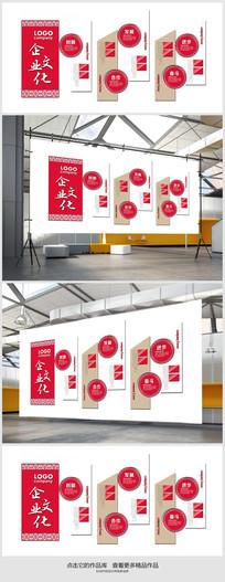 中国风企业文化墙展板设计 PSD
