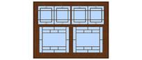 中式玻璃窗户模型