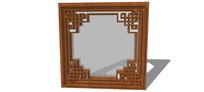 中式古典窗户SU模型