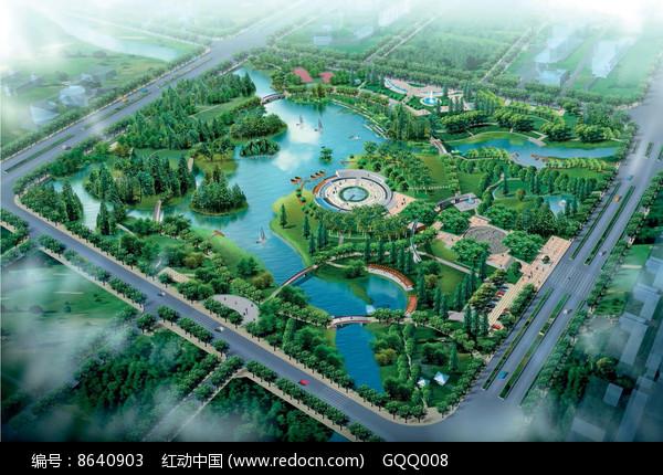 中心公园景观设计鸟瞰图图片
