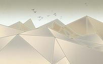 北欧抽象几何三角形图案背景墙