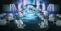 冰蓝浪漫时尚婚礼效果图设计 PSD