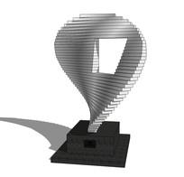 抽象形状艺术雕塑su模型 skp