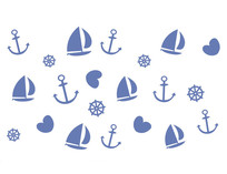 地中海风儿童房硅藻泥背景矢量图