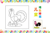 儿童简笔画小鸟图案