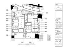 古典酒店缺角正方卫生间顶面图