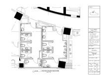 古典酒店缺角正方卫生间水电图