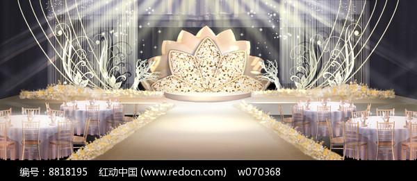 华丽香槟色婚礼效果图图片