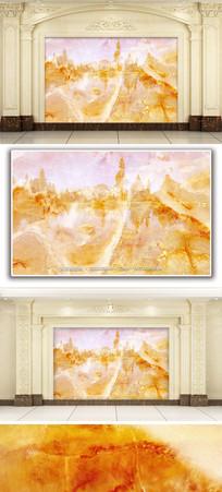 湖光山色大理石纹背景墙