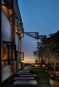 混搭小旅馆庭院汀步设计 JPG