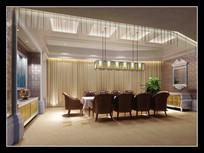 酒店古典简约会议室效果图