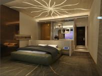 酒店特色太阳花纹室内效果图