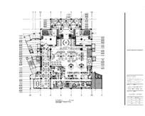 酒店一楼自助餐厅家具平面图