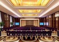 酒店中式大会议室效果图