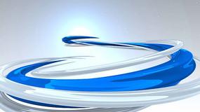 蓝色线条栏目包装片头片尾模板