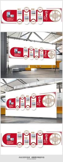 企业文化发展历程文化墙展板