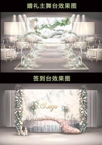 时尚简约大理石婚礼效果图 PSD