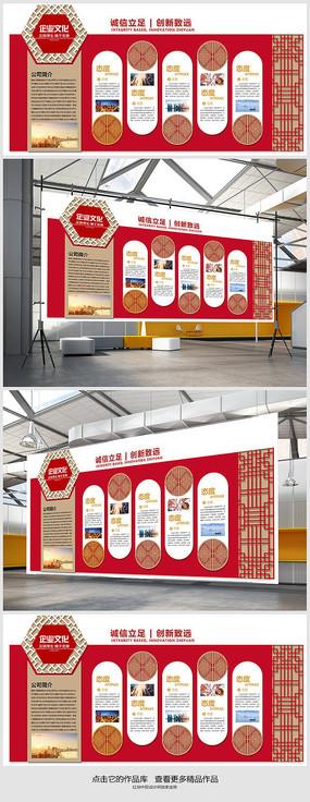新中式企业文化造型墙设计 PSD