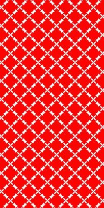 红标花纹雕刻图案