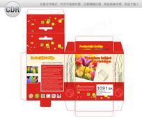 红色科技打印机墨盒包装设计