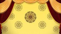 黄色欧式相声小品背景