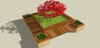 花坛坐凳模型 skp