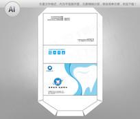 简约蓝色义齿彩盒包装设计