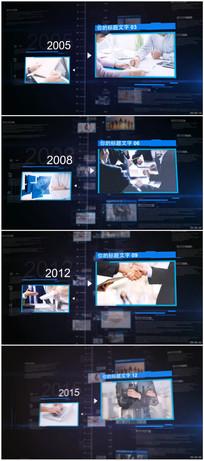 科技感企业时间线图片介绍片头视频