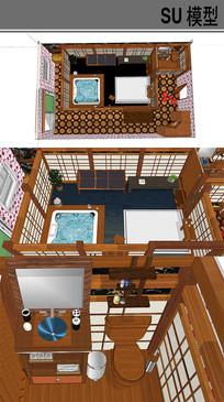 日式古典超大浴室 skp
