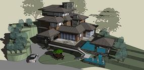 日式山地别墅