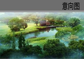 湿地公园木屋意向图 JPG