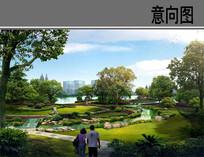 湿地公园曲型河道意向图 JPG