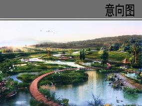 湿地公园曲型桥意向图 JPG