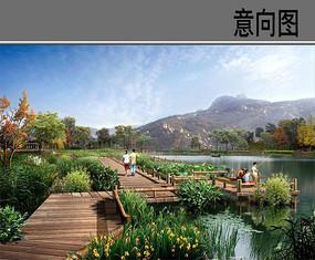 湿地公园直桥意向图 JPG