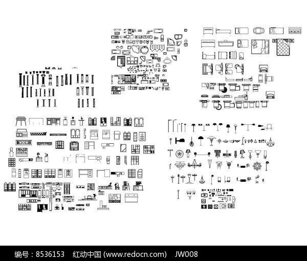 室内CAD图块dwg素材下载_室内装修设计图片柴油机195195ss195195cad图片