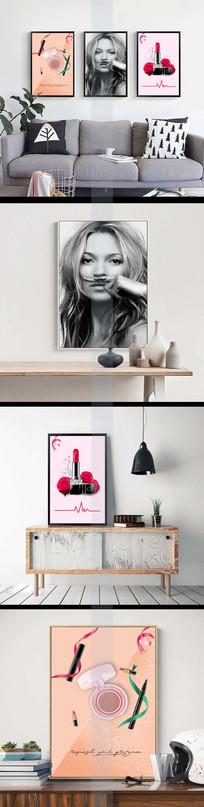室内装饰口红美妆美甲无框画 TIF