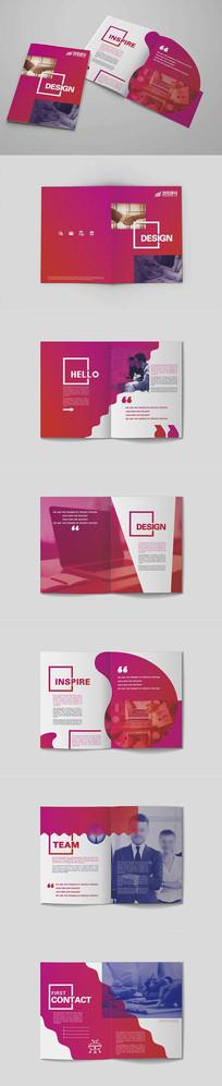 时尚红色通用企业宣传画册