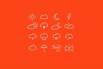 天气图标PS素材 AI