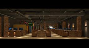 玩具城网咖大厅效果图