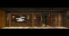 玩具城网咖入口景墙效果图