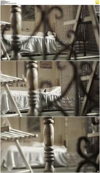 卧室床上睡觉实拍视频素材