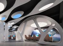 现代太空机舱网咖包厢效果图