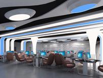 现代太空机舱网咖效果图