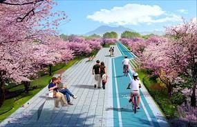 樱花走廊意向图