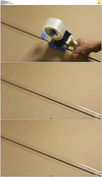 用胶布封箱实拍视频素材