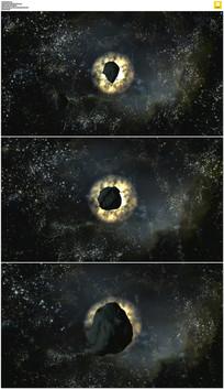 陨石飞来动画实拍视频素材