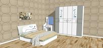 中式文艺卧室样式